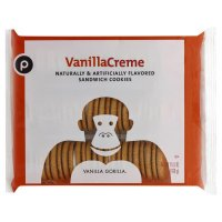 Store Brand Vanilla Sandwich Creme Cookies 15.5oz PKG