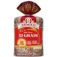 Arnold Whole Grains Bread 12 Grain 24oz PKG