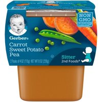Gerber 2nd Foods Mixed Vegetables All Natural 4oz 2PK