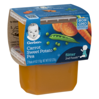 Gerber 2nd Foods Carrot Sweet Potato Pea 4oz 2PK