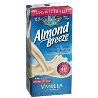 Almond Breeze Unsweetened Vanilla Non-Dairy Beverage 32oz CTN