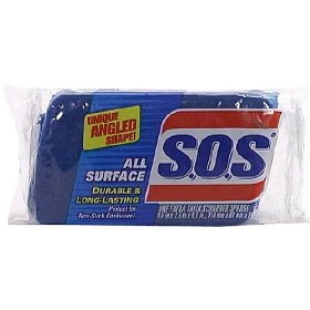 SOS Scrubber Sponge All Surface 1CT