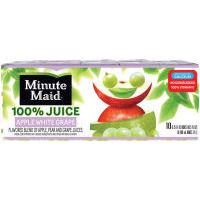 Minute Maid 100% Juice Apple White Grape 10PK of 6oz Boxes