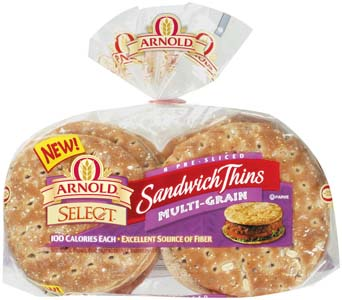 Arnold Sandwich Thins Multi-Grain 8CT 12oz PKG