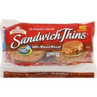 Arnold Sandwich Thins 100% Whole Wheat 8CT 12oz PKG product image