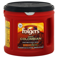 Folgers Coffee 100% Colombian Ground Medium Dark 27.8oz Can