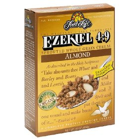 Food For Life Ezekiel 4:9 Sprouted Whole Grain Cereal Almond 16oz Box