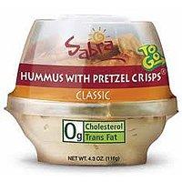 Sabra Classic Hummus with Pretzel Crisps 4.56oz PKG