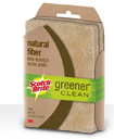 Scotch-Brite Greener Clean Natural Fiber Non-Scratch Scrub Sponge 1CT