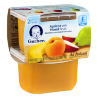 Gerber 2nd Foods Apricots with Mixed Fruit All Natural 4oz 2PK product image