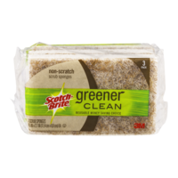 Scotch-Brite Greener Clean Natural Fiber Non-Scratch Scrub Sponge 3CT
