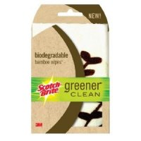 Scotch-Brite Greener Clean Biodegradable Bamboo Wipes 3CT PKG