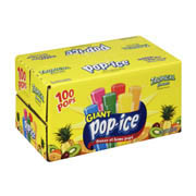 Pop-Ice Freeze & Eat Pops Tropical Flavors 1.5oz EA Giant 80CT