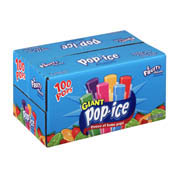 Pop-Ice Freeze & Eat Pops Assorted Flavors 1.5oz EA Giant 80CT