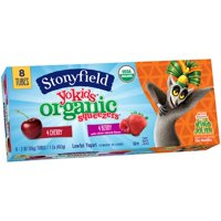 Stonyfield Farm YoKids Squeezers 4Berry & 4Cherry 8CT 2oz Tubes