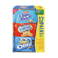Nabisco Cookies Variety Pack Mini Chips Ahoy, Oreo & Nutter Butter 12CT Box