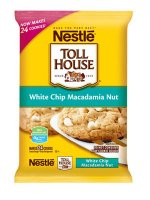 Nestle Toll House Cookie Dough White Chip Macadamia Nut 24CT 16oz PKG