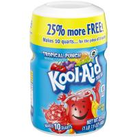 Kool-Aid Drink Mix Tropical Punch Makes 8QTS 19oz PKG