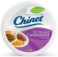 Chinet Premium Strength Paper Compartment Plates 32CT