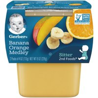 Gerber 2nd Foods Banana Orange Medley All Natural 4oz 2PK