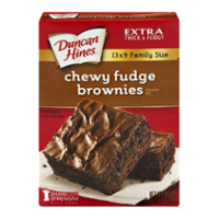 Duncan Hines Brownie Mix Chewy Fudge Family Style 18.3oz Box product image