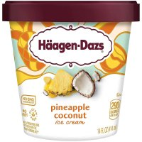 Haagen Dazs Ice Cream Pineapple Coconut 14oz PKG