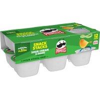 Pringles Snack Stacks Sour Cream & Onion Potato Crisps .74oz EA 12CT 8.88oz PKG