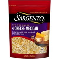 Sargento Off the Block 4 Cheese Mexican Shredded Cheese 8oz Bag product image