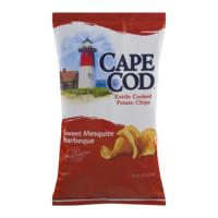 Cape Cod Potato Chips Kettle Cooked Sweet Mesquite Barbeque 8oz Bag