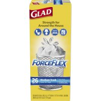 Glad Force Flex Medium Garbage Bags 8 Gallon 26CT