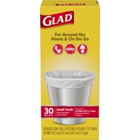 Glad Small Garbage Bags 4 Gallon 30CT