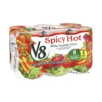 V8 100% Vegetable Juice Spicy Hot 5.5oz EA 6PK