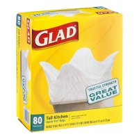 Glad Quick Tie Tall Kitchen Bags 13 Gallon 80CT product image