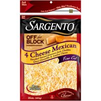 Sargento Off The Block 4 Cheese Mexican 16oz Bag