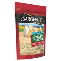 Sargento Reduced Fat 4 Cheese Italian Shredded Cheese 8oz Bag