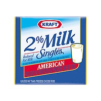 Kraft American Cheese Singles 2% Milk Reduced Fat 16CT 12oz PKG