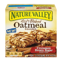Nature Valley Soft Baked Oatmeal Squares Cinnamon Brown Sugar 6CT 7.44oz PKG product image