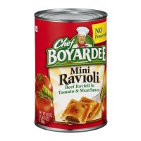 Chef Boyardee Mini Ravioli Beef Ravioli in Tomato Sauce 40oz Can