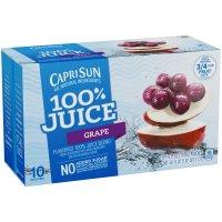 Capri Sun 100% Juice Pouches Grape 10CT 6oz EA 60oz PKG product image