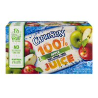 Capri Sun 100% Juice Pouches Apple 10CT 6oz EA 60oz PKG product image