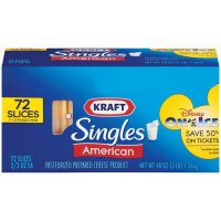 Kraft American Cheese Singles 72CT 48oz PKG