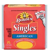 Borden American Cheese Singles 24CT 16oz PKG