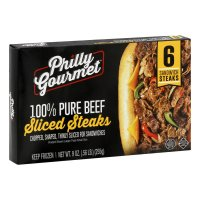 Philly Gourmet Steaks For Sandwiches 6CT 9oz Pkg