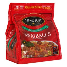 Armour Italian Style Meatballs 14oz Bag