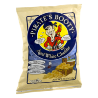 Pirates Booty Gourmet Puffed Rice & Corn Snack Aged White Cheddar 4oz Bag