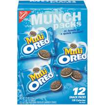 Nabisco Oreo Mini Cookies 12CT 1oz EA 12oz PKG product image