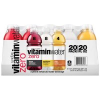 Glaceau Vitamin Water Zero Variety Pack 20CT of 20oz BTL