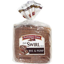 Pepperidge Farm Deli Swirl Bread Rye and Pump 16oz PKG