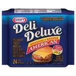 Kraft Deli Deluxe American Cheese Singles 24CT 16oz PKG