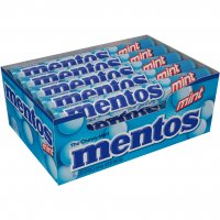 Mentos Chewy Mint Candy Mint Flavor 15 Roll Pack 1.32oz EA Roll